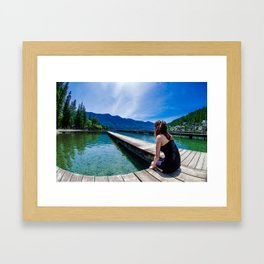 By The Water Framed Art Print
