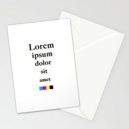 Lorem Ipsum Offset Type Stationery Cards