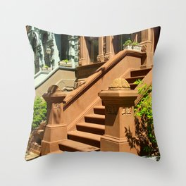 New York Manhattan Upper West Side Townhomes Throw Pillow