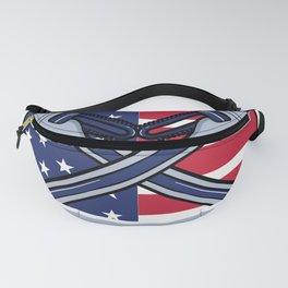 Pipefitter Steamfitter Plumber USA American Flag Fanny Pack
