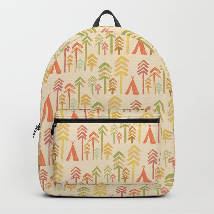 Tepee in the forest Backpack