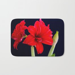 Red Amaryllis Bath Mat
