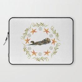 Sea Otter Mandala 1 - Watercolor Laptop Sleeve