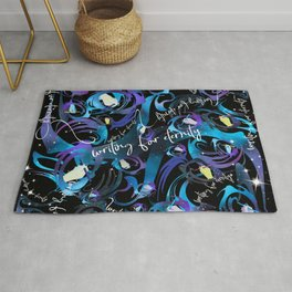 writing for eternity Rug