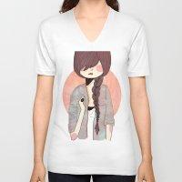 nan lawson V-neck T-shirts featuring Some Fashion by Nan Lawson