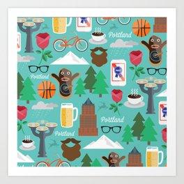 PDX patten Art Print