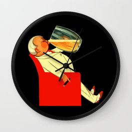 Retro French beer ad Le Bon Bock Wall Clock
