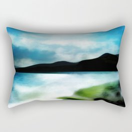 """Almeria Beach - Coast of Spain"" (Cabo de Gata) Rectangular Pillow"