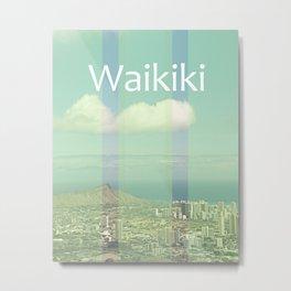 Vintage Waikiki Metal Print