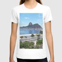 rio de janeiro T-shirts featuring Rio de Janeiro Landscape by Fernando Macedo