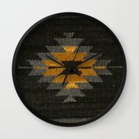 kilim Wall Clocks featuring wool kilim by Storm + Stress