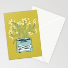 The Typing Tree Blue Stationery Cards