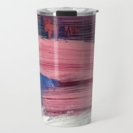 Los Angeles [3]: A vibrant, abstract piece in reds and blues and gold by Alyssa Hamilton Art Travel Mug