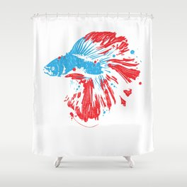 Betta Splendens T Shirt Bettas Siamese Fighting Fish Gift Shower Curtain