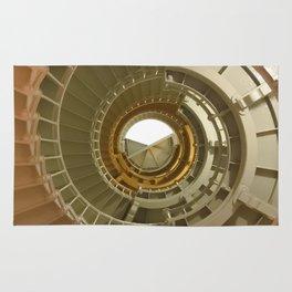 Gray's Harbor Lighthouse Stairwell Spiral Architecture Washington Nautical Coastal Rug
