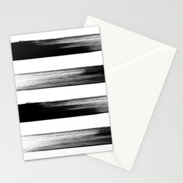 Japanese calligraphy stroke stripe -Zen style, black and white Stationery Cards