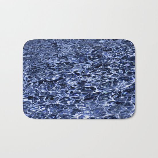 water and ripples Bath Mat