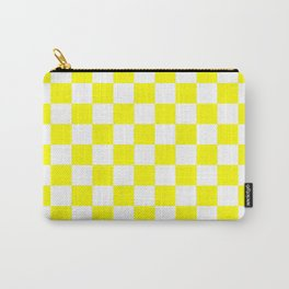 Checker (Yellow/White) Carry-All Pouch