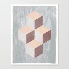 four cubes sixteen diamonds Canvas Print