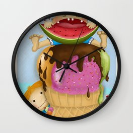 The pleasure of being twin Wall Clock