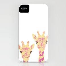 pinky giraffe sisters iPhone (4, 4s) Slim Case