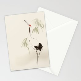 Oriental Red-Crowned Crane 001 Stationery Cards
