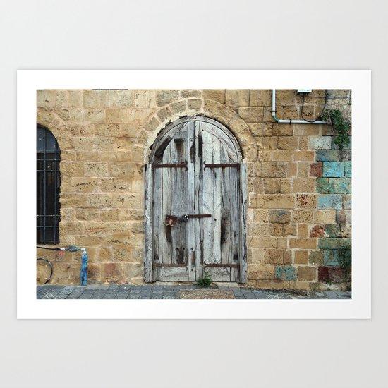 Tel Aviv Doors 4 Art Print