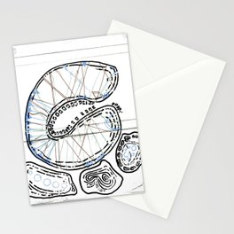 From Simplicity 2 Complexity series - Mitochondria Connections Stationery Cards