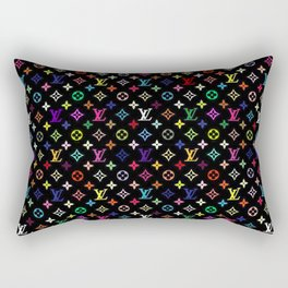 COLORFULL LV PATTERN LOGO Rectangular Pillow