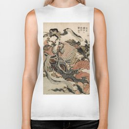 Hokusai, Aspara and the flute – musician manga, japan,hokusai,japanese,北斎,ミュージシャン Biker Tank