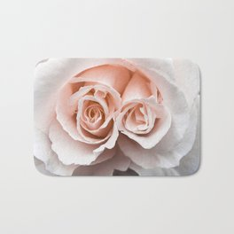 Rose with two centres   Blush Pink Bedroom Art Bath Mat