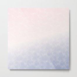 Pale Pink And Lilac Duo Tones Art Metal Print