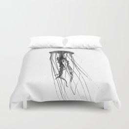 Jellyfish Silhouette Duvet Cover