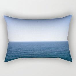 Classic plane over the ocean Rectangular Pillow