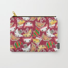 """""""Oro?"""" Christmas WINE RED Carry-All Pouch"""