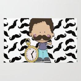 Mustache Boy Rug