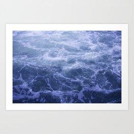Blue Water Crashes at Lock 19 Art Print