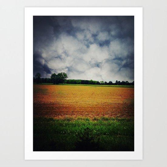 calm before the storm Art Print