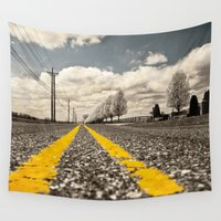 road Wall Tapestries featuring Road by Color and Patterns