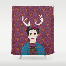 DEER FRIDA Shower Curtain
