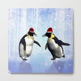 Funny penguin Metal Print