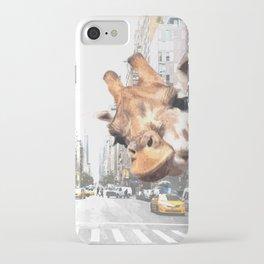Selfie Giraffe in New York iPhone Case