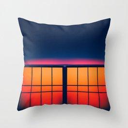 Night City Blocks Throw Pillow