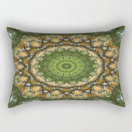 Yellow Tree Flower Kaleidoscope Art 3 Rectangular Pillow