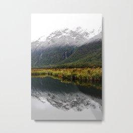 Eglington River Valley, South Island New Zealand Metal Print