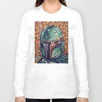 boba Long Sleeve T-shirts featuring BOBA FETT by M. Ali Kahn