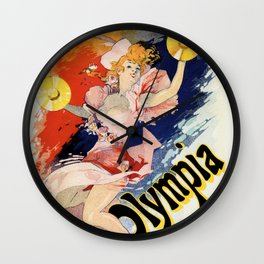 Olympia Paris 1892 by Jules Chéret Wall Clock