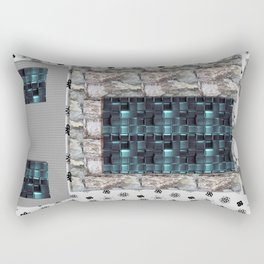 textures for the interior grey blue color Rectangular Pillow