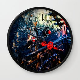 Steam Engine Locomotive Driving Cabin And Furnace Wall Clock