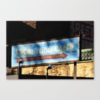 cafe Canvas Prints featuring Cafe by Ink and Paint Studio